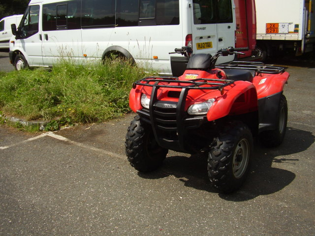 2012 HONDA FOURTRAX 420 QUAD BIKE £3,250.00 4x4 5 speed This quad bike was stolen by card fraud. Collected by white transit luton van Reg YDO5 JPU if seen please report to the police.